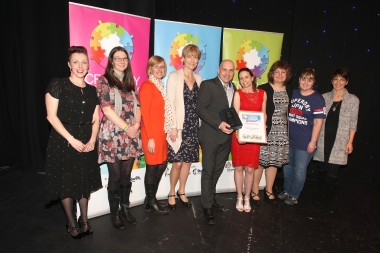 Crawley Community Awards 2016. Autism Support receives the Support Group award from Katie Bennett. Photo by Derek Martin.