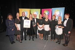 DM17311514a.jpg. Crawley Community Awards, 2017. Winners of the Charity award - The Posh Club. Photo by Derek Martin