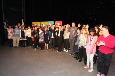 DM17311579a.jpg. Crawley Community Awards, 2017. Volunteer Group winners, presented by Patricia Arculus. Photo by Derek Martin