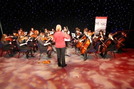 DM17311469a.jpg. Crawley Community Awards, 2017. Crawley Youth String Orchestra. Photo by Derek Martin