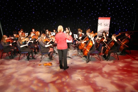 DM17311469a.jpg. Crawley Community Awards, 2017. Crawley Youth String Orchestra. Photo by Derek Martin