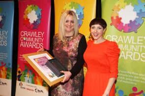 DM1842096a.jpg. Crawley Community Awards 2018. Fundraising, presented by Katie Bennett, Community Awards judge. Photo by Derek Martin Photography.